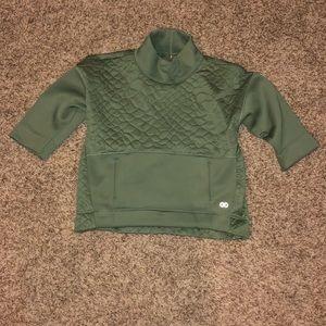 Green athletic sweatshirt